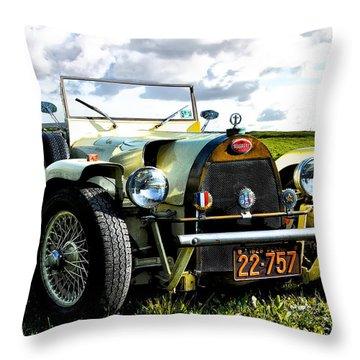 1929 Bugatti Throw Pillow by Bill Cannon