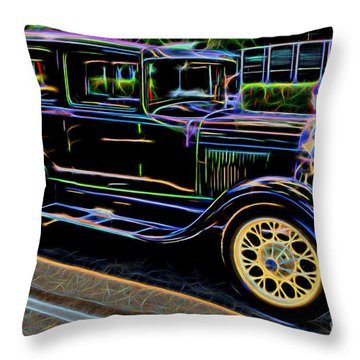 1929 Ford Model A - Antique Car Throw Pillow by Gary Whitton