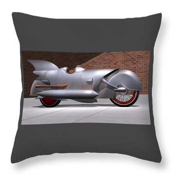 1929 Steam Cycle Throw Pillow
