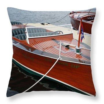 1930 Chris Craft Throw Pillow