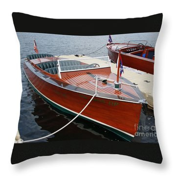 1930 Chris Craft Throw Pillow