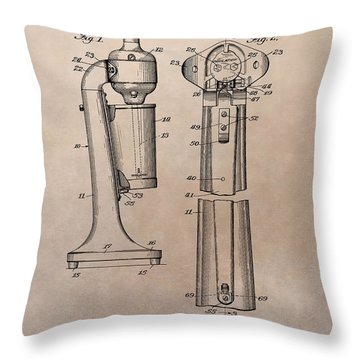 1930 Drink Mixer Patent Throw Pillow by Dan Sproul