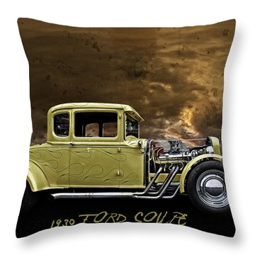 1930 Ford Coupe Throw Pillow