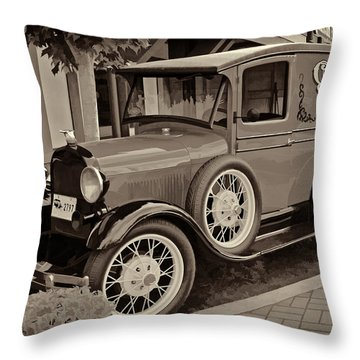 1930 Ford Panel Truck Throw Pillow