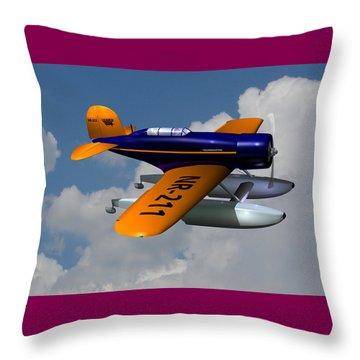1930 Lockheed Model 8 Sirius Throw Pillow