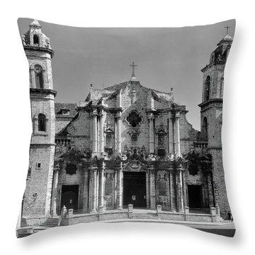 1930s 1940s Columbus Cathedral Built Throw Pillow
