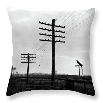 1930s 1940s Telegraph And Telephone Throw Pillow