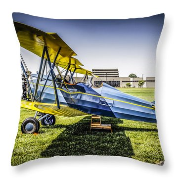 1930s Bi-plane Throw Pillow