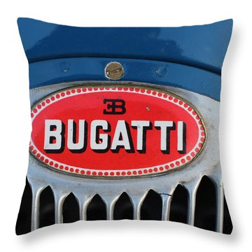 1930's Ettore Bugatti Throw Pillow