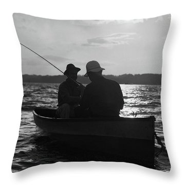 1930s Two Anonymous Men Wearing Hats Throw Pillow