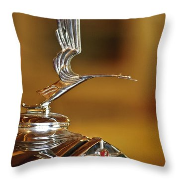1931 Lasalle Hood Ornament Throw Pillow by Jill Reger
