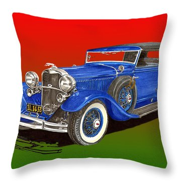 1931 Lincoln K Four Door Convertible Throw Pillow by Jack Pumphrey