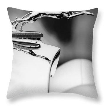 1931 Lincoln K Hood Ornament -1837bw Throw Pillow by Jill Reger