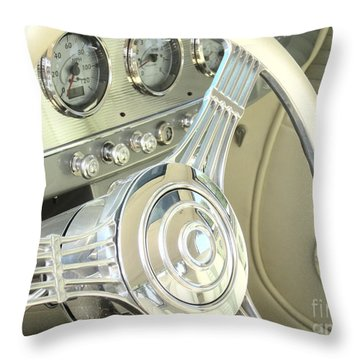 1932 Cabriolet Hupmobile Steering Throw Pillow