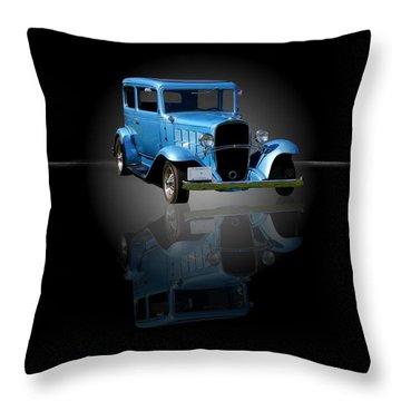 1932 Chevrolet Streetrod Throw Pillow by Davandra Cribbie