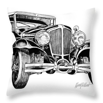 1930 Cord Throw Pillow