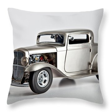 Throw Pillow featuring the photograph 1932 Ford 3 Window Coupe by Gianfranco Weiss