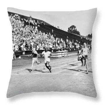 1932 Olympic Track Tryouts Throw Pillow