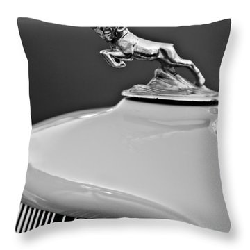 1933 Dodge Ram Hood Ornament 2 Throw Pillow by Jill Reger