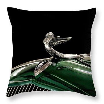 1933 Plymouth Mascot Throw Pillow