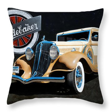 1933 Studebaker Throw Pillow