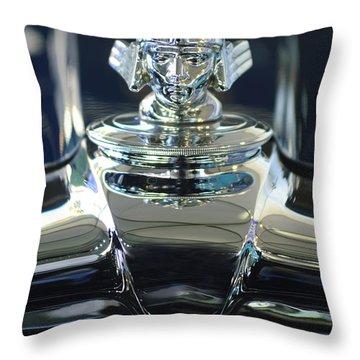 1933 Stutz Dv-32 Hood Ornament 2 Throw Pillow by Jill Reger