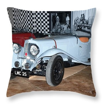 1934 Aston Martin 1.5 Liter Mk. II Throw Pillow