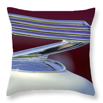 1934 Chevrolet Hood Ornament Throw Pillow by Jill Reger