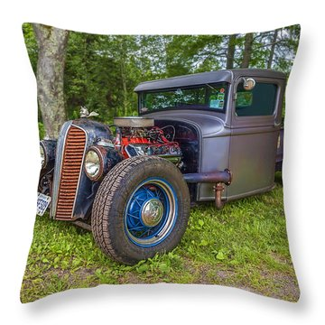 1934 Ford Hot Rod Pickup -  Throw Pillow by Ken Morris