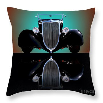 1934 Ford Phaeton Convertible Throw Pillow