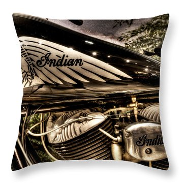 1934 Indian Chief Throw Pillow