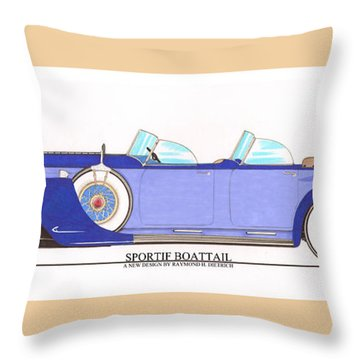 1934 Packard Sportif Boattail Concept By Dietrich Throw Pillow by Jack Pumphrey