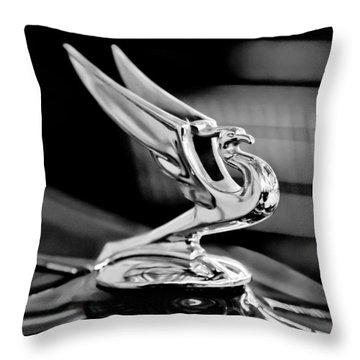 1935 Chevrolet Hood Ornament 3 Throw Pillow by Jill Reger