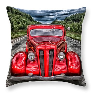 1935 Ford Window Coupe Throw Pillow