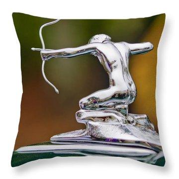 1935 Pierce-arrow 845 Coupe Hood Ornament Throw Pillow