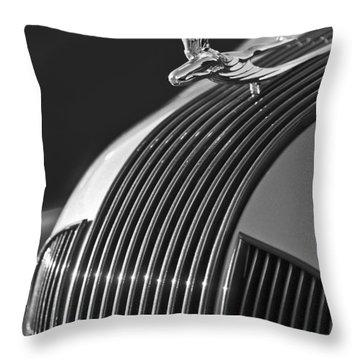 1935 Pontiac Sedan Hood Ornament 3 Throw Pillow by Jill Reger