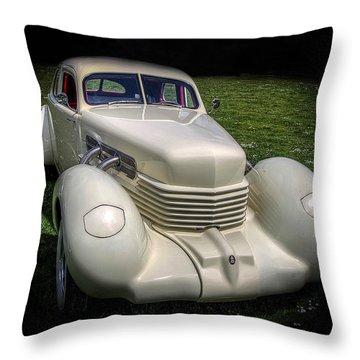 1936 Cord Automobile Throw Pillow