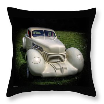Throw Pillow featuring the photograph 1936 Cord Automobile by Thom Zehrfeld