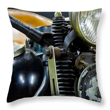 1936 El Knucklehead Harley Davidson Motorcycle Throw Pillow by Wilma  Birdwell