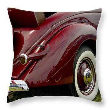 1936 Ford Phaeton Throw Pillow by James C Thomas