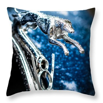 1936 Ford V8 Greyhound Hood Ornament  Throw Pillow