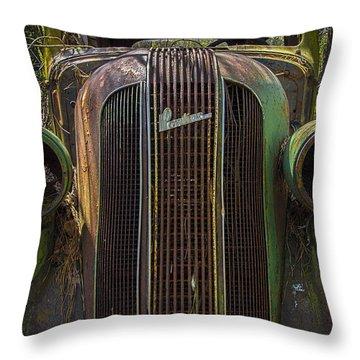 1936 Pontiac Head On Throw Pillow
