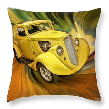 1936 Willys Throw Pillow