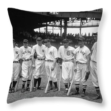 1937 American League All-star Players Throw Pillow