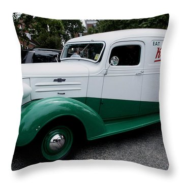 1937 Chevy Delivery Van Throw Pillow by James C Thomas