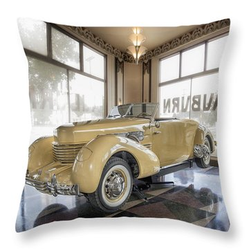1937 Cord 812 Throw Pillow by Gary Warnimont
