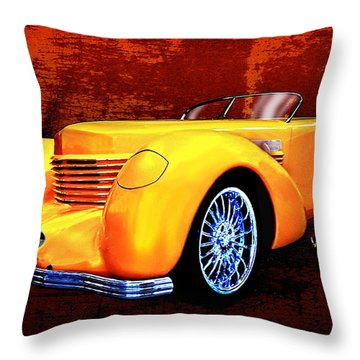 1937 Cord Coffin Nose Speedster Concours On Toast Throw Pillow