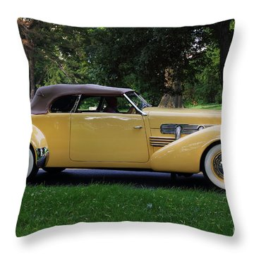 1937 Cord Convertible Throw Pillow by Dennis Hedberg