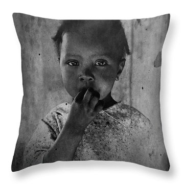 1937 Portrait Child Of Tenant Farmer Throw Pillow