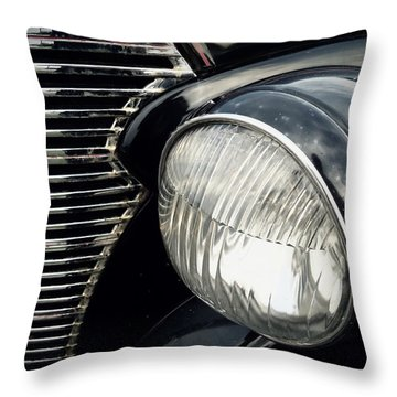 Throw Pillow featuring the photograph 1938 Chevrolet Deluxe Sedan by Joseph Skompski